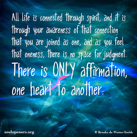 All life connected through spirit.