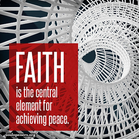 Faith for achieving peace.