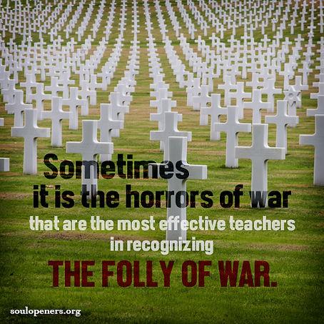 Horrors of war.