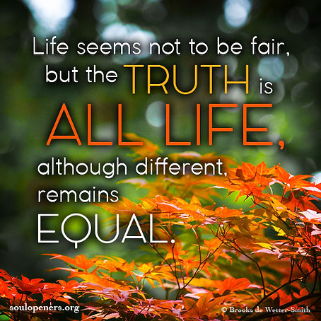 All life is equal.