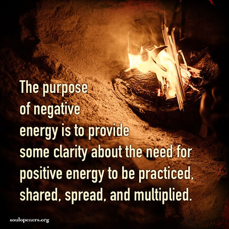 Negative and positive energy.