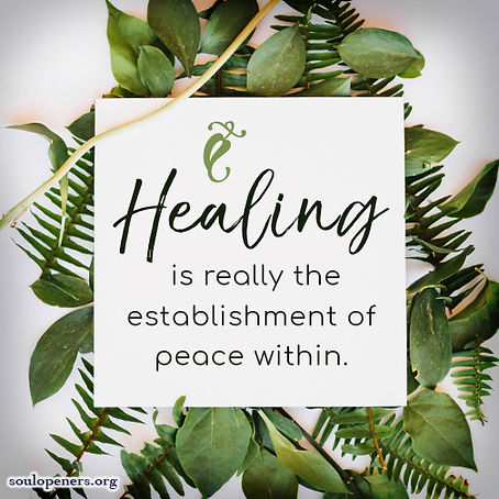 Healing requires peace.