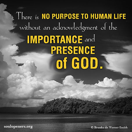 No purpose without God.