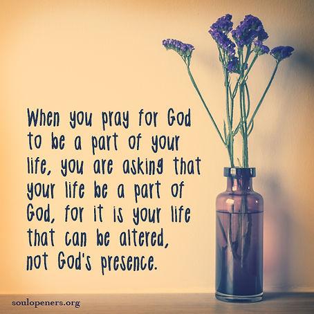 God's presence not altered.