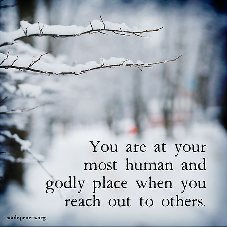 Human and godly place.