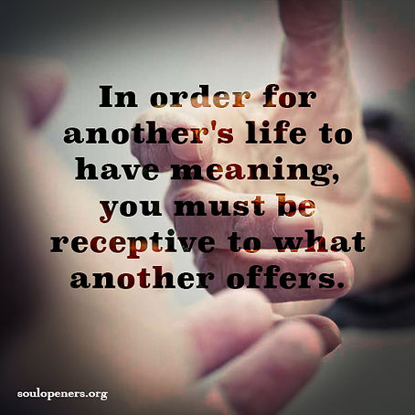 Be receptive to others.