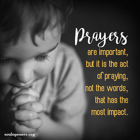 Act of praying important.