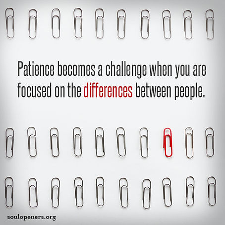 When patience is a challenge.