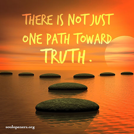 Many paths to truth.