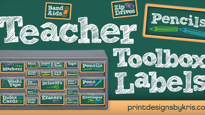 How to Make Your Own Awesome Teacher Toolbox & Drawer Labels