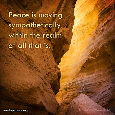 Peace is moving sympathetically.