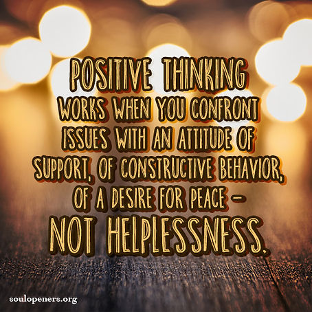 Positive thinking works.