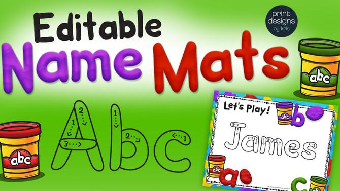 Editable Playdoh Name Mats!
