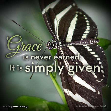 Grace is not earned.