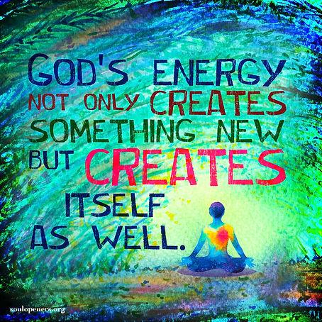 God's creative energy.