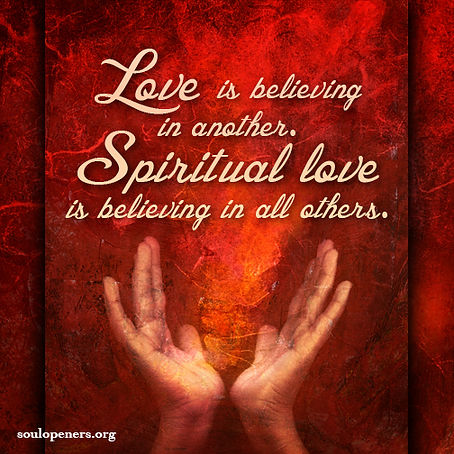 Love is believing.