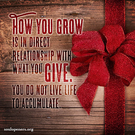 Growth depends on giving.