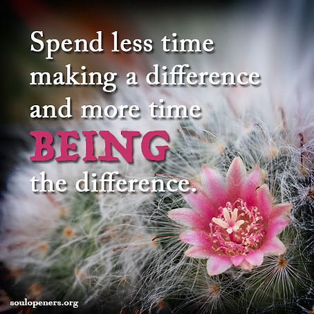 Be the difference.