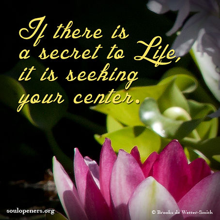 Seek your center.