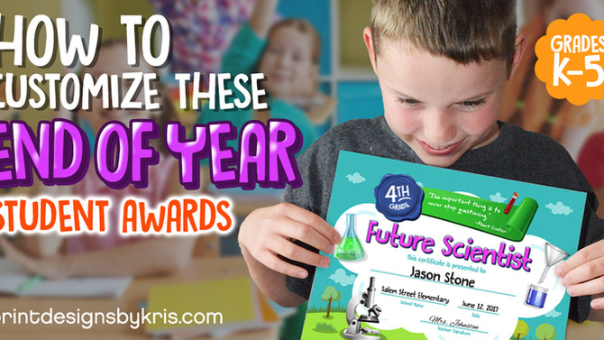 How to Give the Perfect End of Year Student Awards they Will Remember