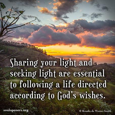 Sharing and seeking light.