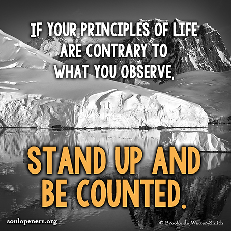 Stand up and be counted.