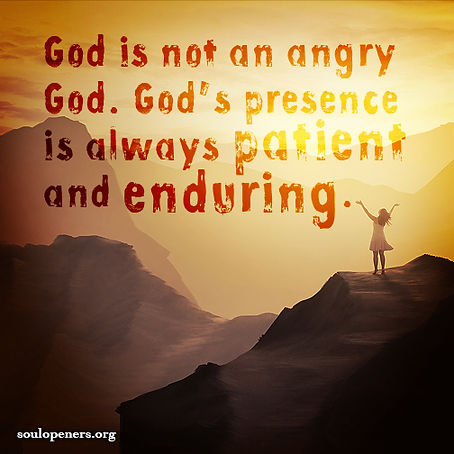 God is not angry.