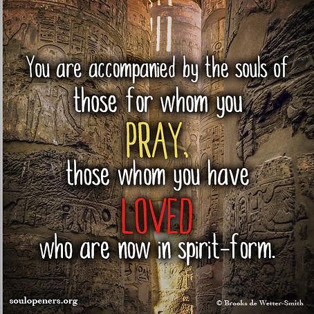 Accompanied by souls.