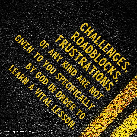 Challenges not from God.