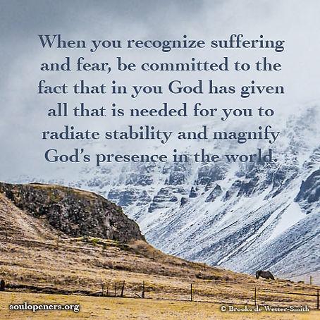Magnify God's presence.