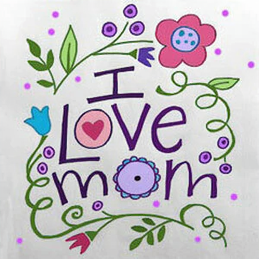 """Mother's Day pop-up Kid's """"I ❤ Mom"""""""