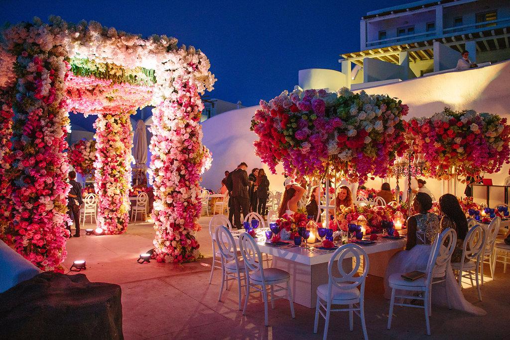 Floral Gala in Santorini
