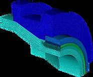 Конечноэлементная модель крэш-элемента