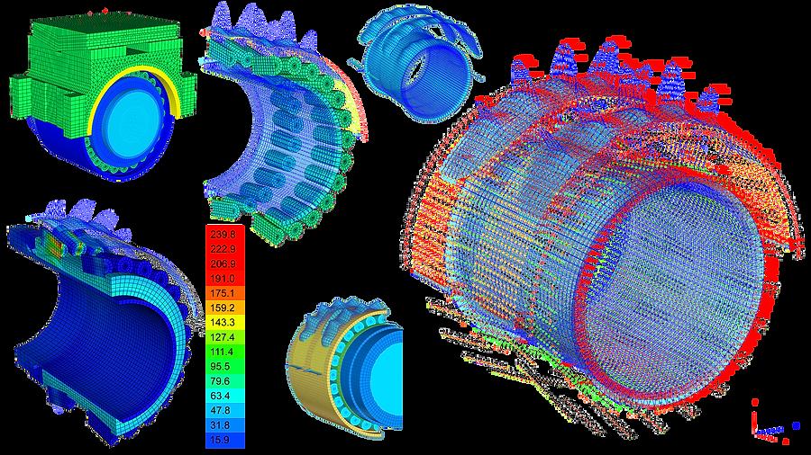 Расчет напряженно-деформированного состояния буксового узла