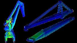 Конечноэлементная модель портального крана