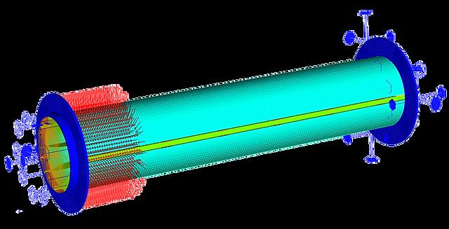 Конечноэлементная модель намоточного устройств