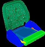 Пластиковое сиденье моторной лодки