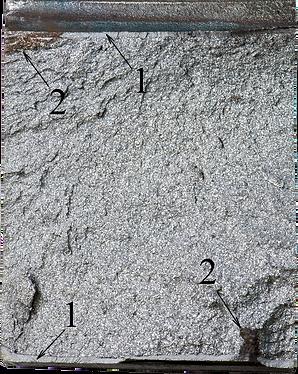 Зернистая структура нв поверхности хрупкого излома
