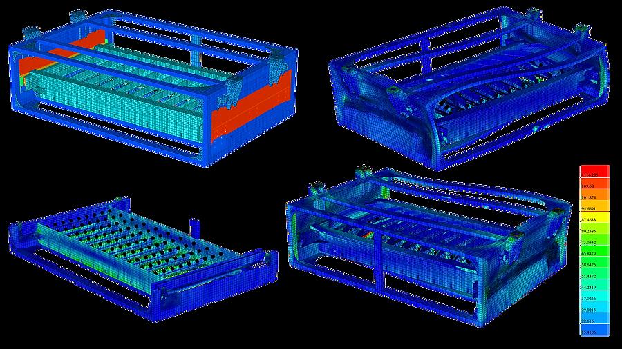 Статический и динамический анализ прочности аккумуляторного ящика
