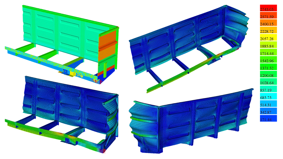 Расчет кузова полувагона на прочность и устойчивость