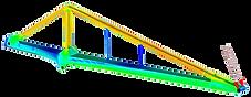 портальный кран, хобот, расчет на прочность, напряжения, распределение напряжений, заказать расчет, jib, FEA, CAE, strength analysis, finite element method, jib harbour crane, engineering, consulting, конечно-элементный анализ, софт для конечно-элементного анализа, эквивалентные напряжения, Von Mises stress