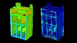 Холодильная камера: модель несущего каркаса и распределение напряжений