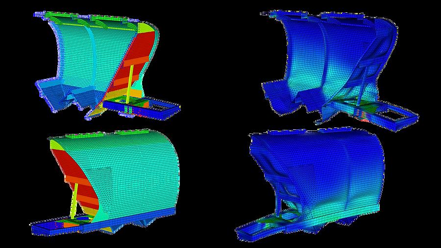 Расчет прочности кузова вагона-минераловоза методом конечных элементов