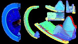 Конечноэлементная модель колеса диффернциального вращения