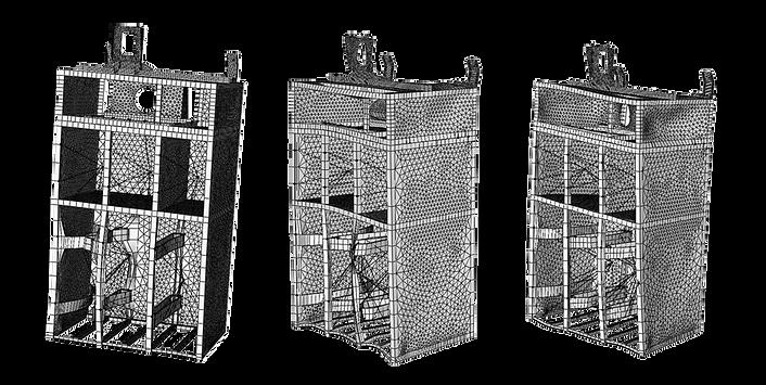 Собственные формы свободных колебаний каркаса холодильной камеры