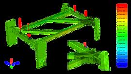 Конечноэлементная модель высококлиренсное шасси самоходного опрыскивателя