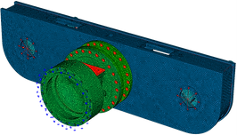 Конечноэлементная модель корпуса редуктора тележки автогрейдера