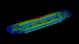 Анализ прочности платформы-контейнеровоза