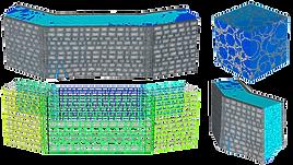 Конечно-элементная модель стены каменной крепости Атерет