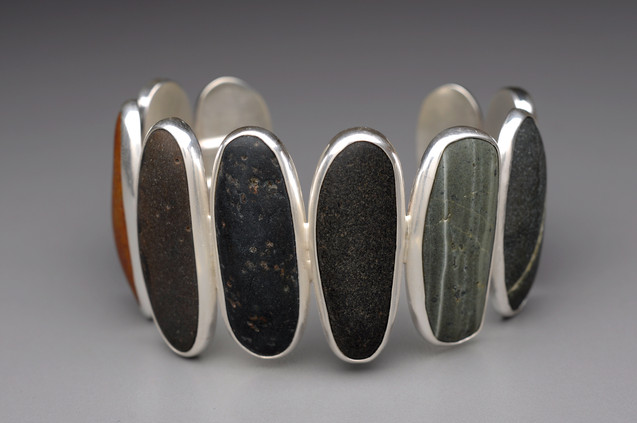 single row long stone cuff